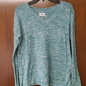 Emerald. OLD NAVY. V-Neck Long Sleeve. Size XS.